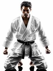Foto op Aluminium Vechtsport judoka fighter man silhouette