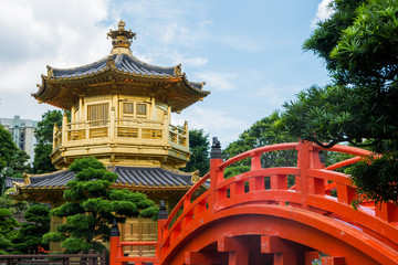 The Golden pavilion in Nan Lian Garden, Chi Lin Nunnery