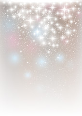 Starry lights on silver background