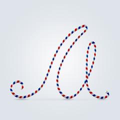 Striped font M
