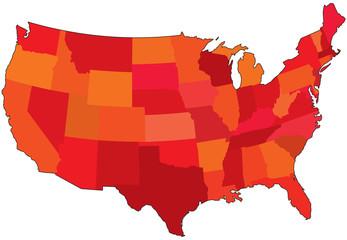 color usa map