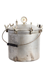 Antique Aluminum Pressure Cooker-Canner