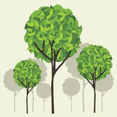 Tree vector Eps10