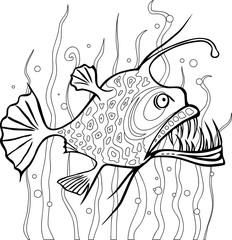 Anglerfish coloring page
