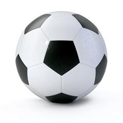 3D soccer ball on white