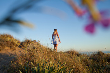 morze plaża Marbella blondynka wakacje turysta