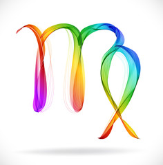 Abstract color sign of the zodiac - Virgo