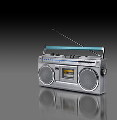 Vintage stereo radio cassette player
