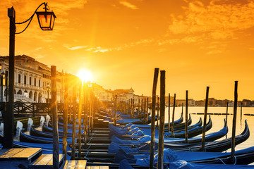 View of Venice at sunrise