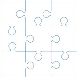puzzle template 169 pieces vector 13x13 stock image and royalty