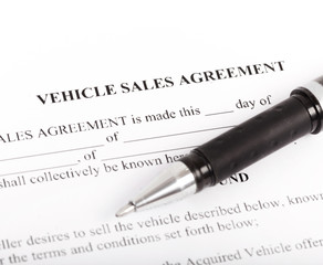 Document and Form of a Vehicle Sales Agreement
