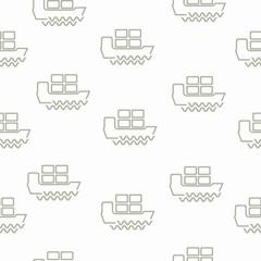 seamless background: ship