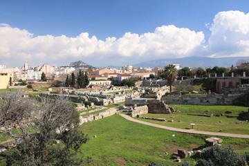 Athènes, le cimetière antique dans la citée