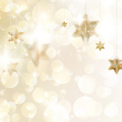 Elegant Christmas snowflakes and copyspace.
