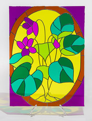 Stained glass - plant