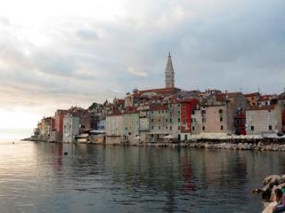 Old town of Rovinj, Croatia. Istria touristic attraction