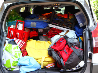 trunk full of family before leaving for the holidays agoniate