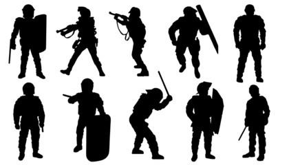 police silhouettes