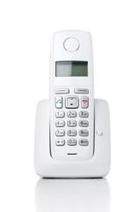 Wireless phone on white background