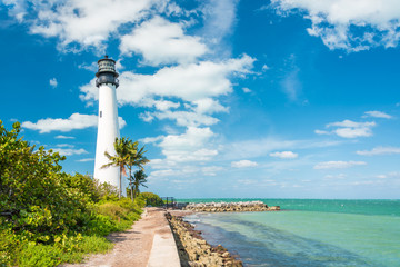 Famous lighthouse at Key Biscayne, Miami Wall mural