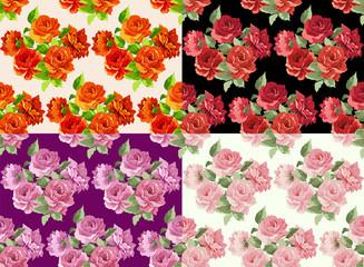 Beautiful Seamless peony pattern