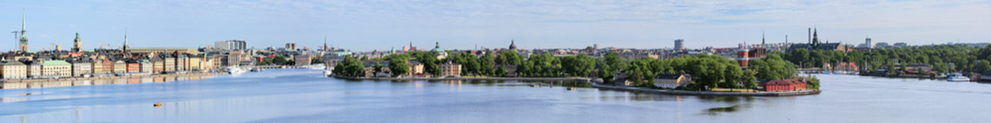 Wide panorama of Stockholm, Sweden