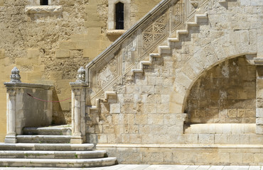 Wonderful stone staircase Gioia del Colle - Apulia, Italy