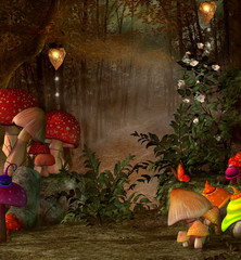 Wall Mural - Midsummer night's dream series - Magic place into the forest