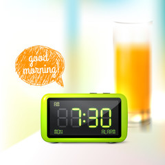 Digital alarm clock background