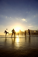 Brazilians Playing Kick-Ups Altinho Beach Football Rio