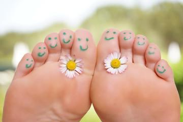 gesunde entspannte Füße