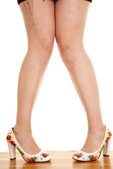woman legs stand heels fun point toes