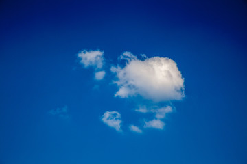 White cloud in the blue sky