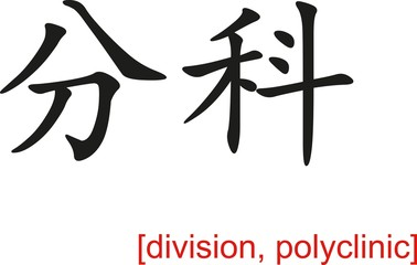 Chinese Sign for division, polyclinic