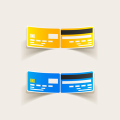 realistic design element: credit, card