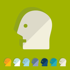 Flat design: head