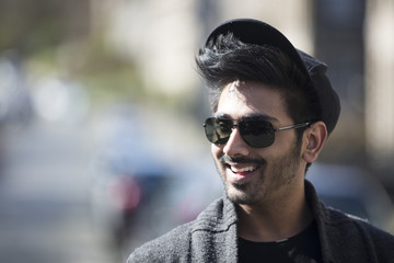 Portrait of a trendy urban Indian man.