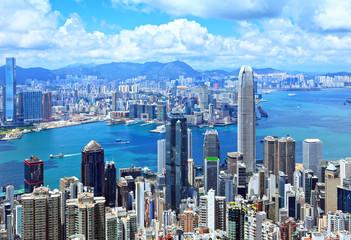 Foto auf Acrylglas Hongkong Hong Kong skyline