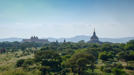 Stupas and pagodas of Bagan ancient. Myanmar