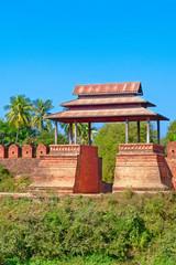 Old city walls. Inwa (Ava). Myanmar