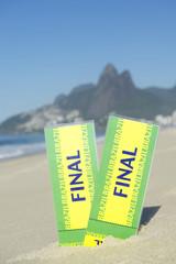 Two Brazil Final Football Tickets Ipanema Beach