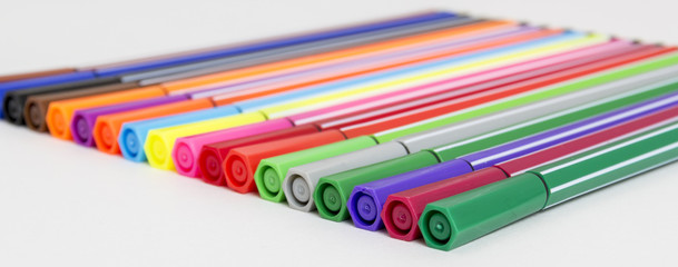Group of bright markers
