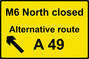 Temporary diversion route sign