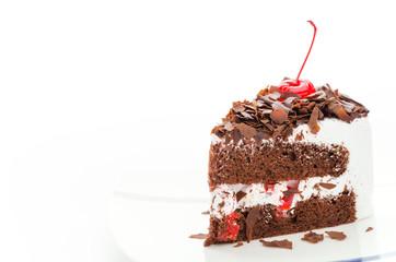 Cake chocolate isolated on white background