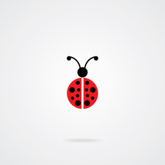 Lady Bug Icon. Eps.10