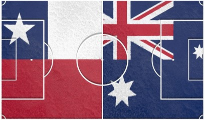 chili vs australia group b 2014, football field