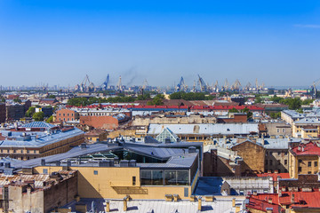 St. Petersburg, Russia. View of the city from the top place
