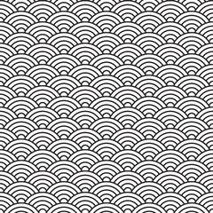 china style seamless pattern seashell