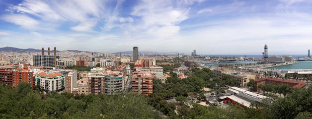 Barcelona, Spain, Europe (wide, high quality panorama)