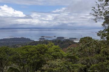 Brokopondo reservoir seen from Brownsberg in Suriname